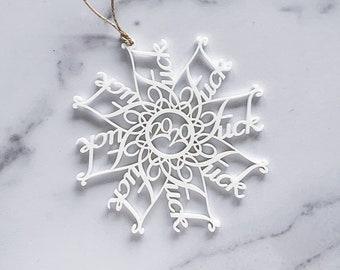 Acrylic Fuckflake Ornament   Fuck 2020 Christmas Ornament   Laser Cut Ornament   2020 Christmas Ornament   Holiday Decoration