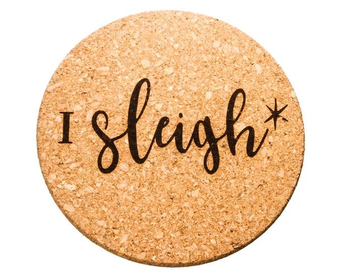 I Sleigh - Cork Trivet