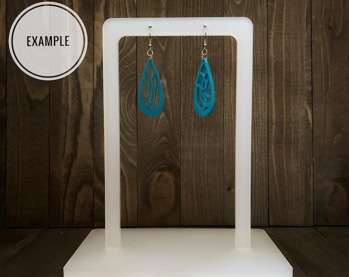 Earring Display Stand | Commercial License | Digital Download | Jewelry Display | Glowforge Cut File | Market Display | Retail Display