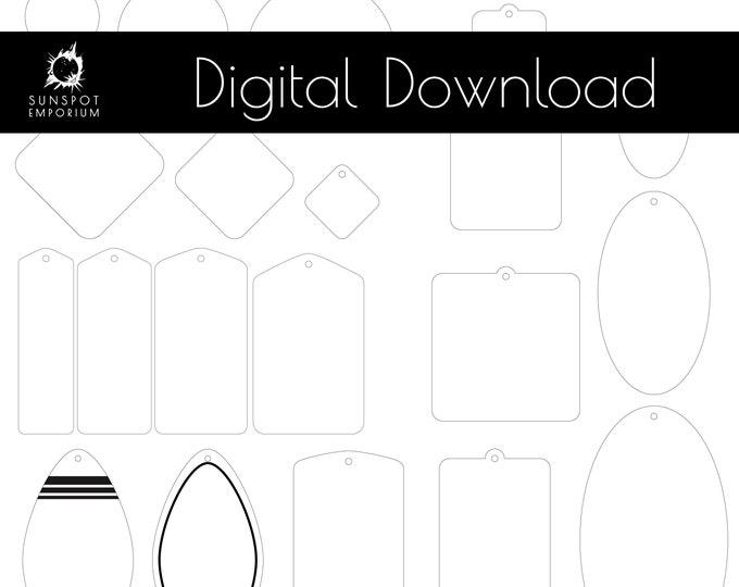 Keychain Patterns | Commercial License | Digital Download | Glowforge Cut File | Laser Cut File | Laser Cut Template | Keychain Bundle