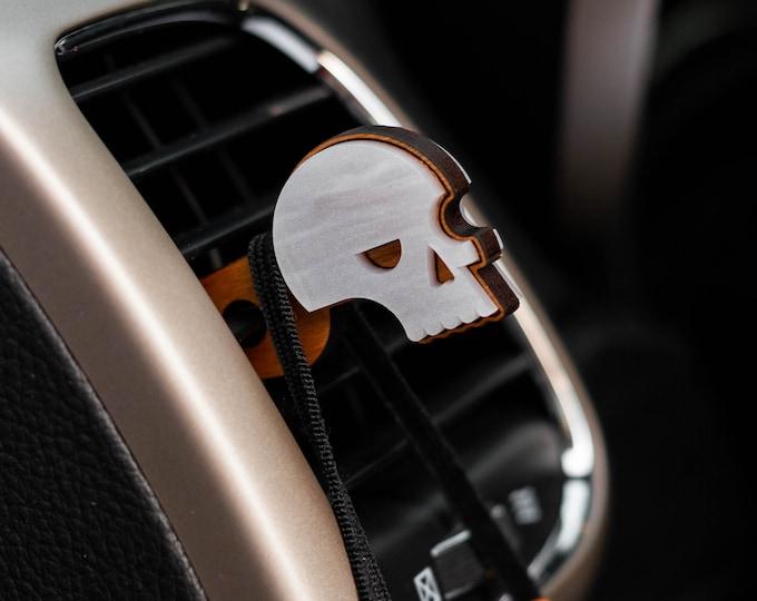 Skull Mask Clip | Car Organization | Skull Face Mask Hanger | Face Mask Organization | Laser Cut | Car Mask Hanger | Mask Accessories