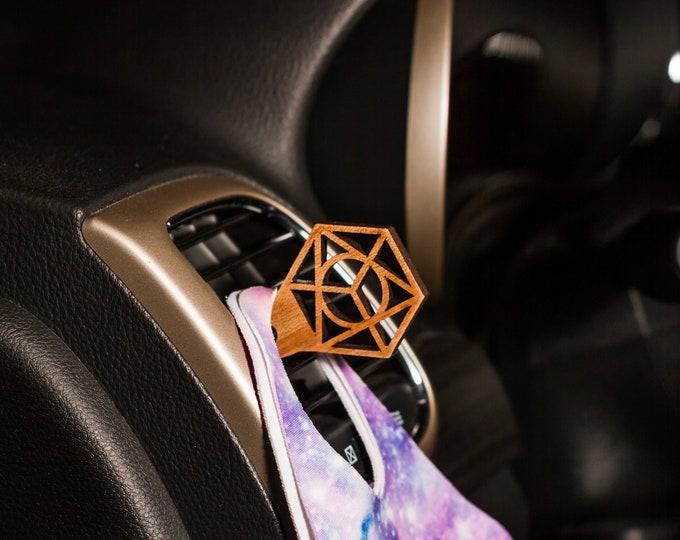 Metatron's Cube Vent Mask Clip | Car Organization | Face Mask Hanger | Face Mask Organization | Car Mask Hanger | Mask Accessories