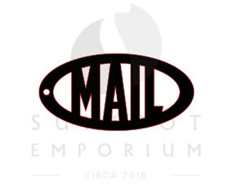 Mail Keychain Pattern   Commercial License   Digital Download   Glowforge Cut File   Cricut Cut File