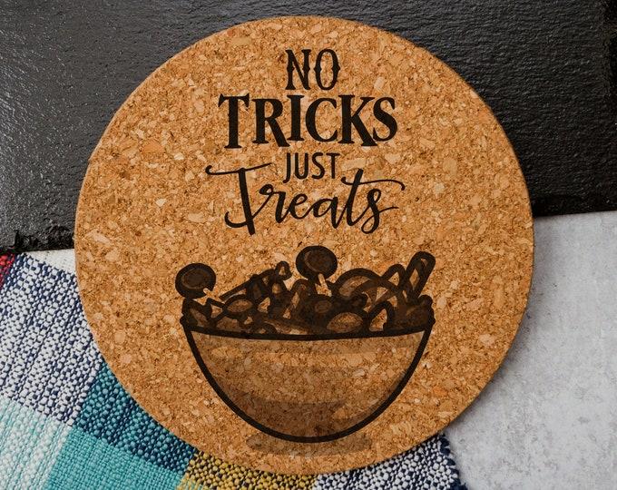 No Tricks Just Treats - Cork Trivet