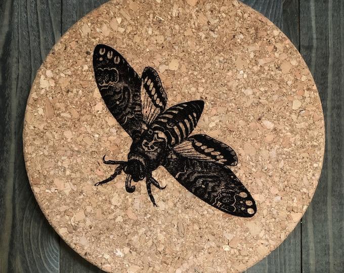 Moth Illustration - Cork Trivet