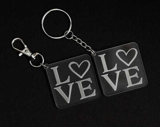 Acrylic Love Keychain | Charity Listing | Donation Listing | Dog Rescue Keychain | Acrylic Keychain | Laser Cut Keychain