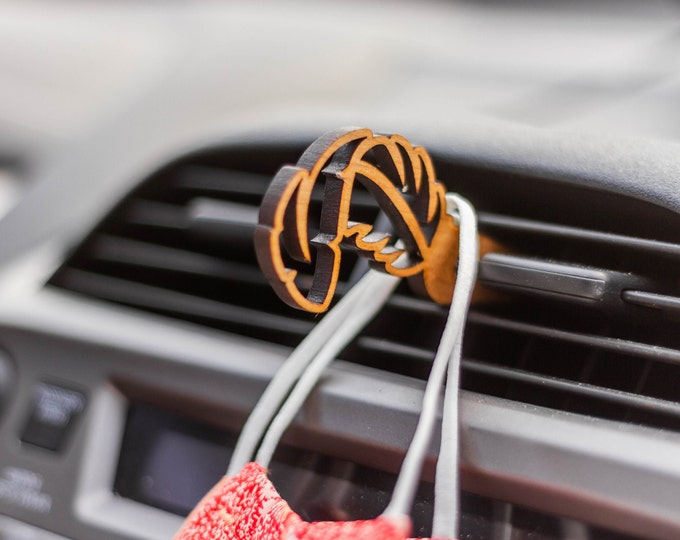 Feather Mask Clip | Car Organization | Face Mask Hanger | Face Mask Organization | Laser Cut | Car Mask Hanger | Mask Accessories