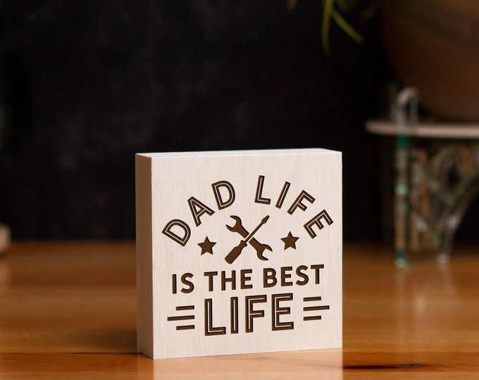 Daddio of the Patio Sign | Freestanding Desk Sign | Laser Engraved | Gifts for Dad | Grilling Humor | Father's Day Gifts