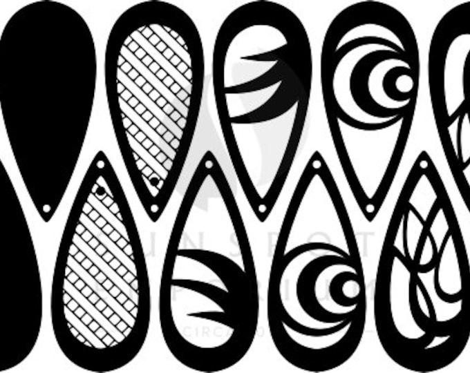 Teardop Earring Pattern | Earring Cut File | Commercial License | Digital Download | Cut File | Glowforge | Laser Printer | Cricut