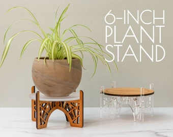6-Inch Plant Stand   House Plant Stand   Small Plant Stand   Plant Gifts   Acrylic Plant Stand   Indoor Gardening
