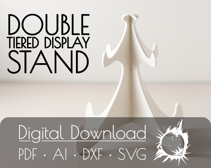 Display Stand Pattern | Commercial License | Digital Download | Glowforge Cut File | Laser Cut File | Laser Cut Template | Glowforge Project
