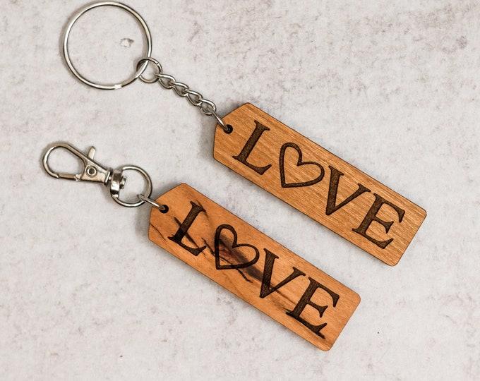 Wooden Love Keychain | Charity Listing | Donation Listing | Dog Rescue Keychain | Wooden Keychain | Laser Cut Keychain