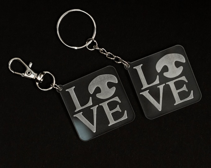 Acrylic Love Keychain | Charity Listing | Donation Listing | Dog Nose Keychain | Acrylic Keychain | Laser Cut Keychain