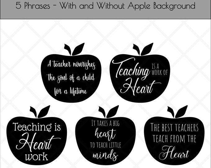 Teacher Quotes   Commercial License   Apple Cut File   Teacher Gift SVG   Teacher Quotes   Glowforge Files