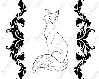 Oh For Fox Sake Wall Art Vinyl Laser Circuit Glowforge SVG DXF PNG Digital File Hand Drawn