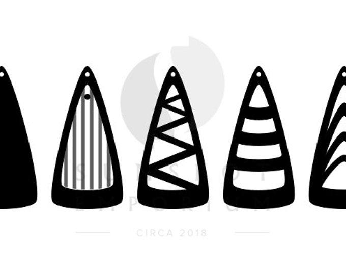 Triangle Earrings Pattern | Commercial License | Glowforge Cut File | Laser Cut File | Jewelry SVG | Earring Cut File