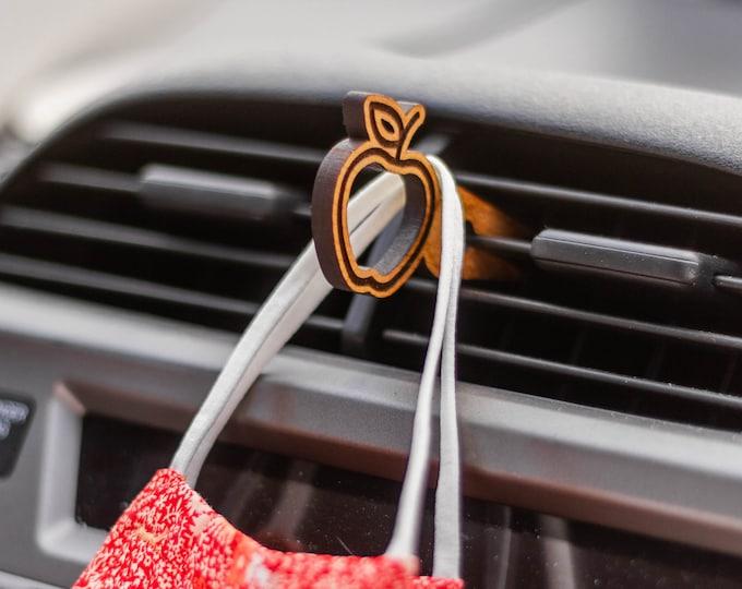 Apple Car Mask Clip | Car Organization | Face Mask Hanger | Face Mask Organization | Laser Cut | Car Mask Hanger | Mask Accessories