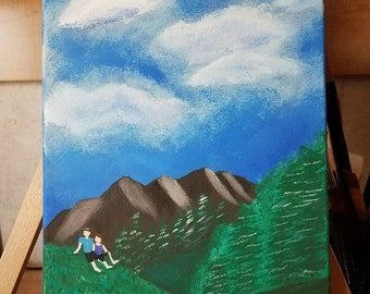 Couple in the Valley- Acrylic painting