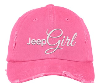 Distressed Jeep Girl Baseball Cap 1ffa9bfe35ce