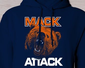23688c3d Chicago Bears, Inspired Mack Hoodie, Mack, Bears t shirt, Football,