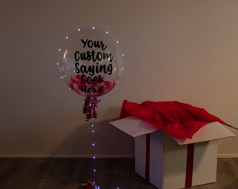 Balloon In A Box Customized 20 Inch With LED Lights Birthday And Surprise Gift New JERSEY Delivery Only