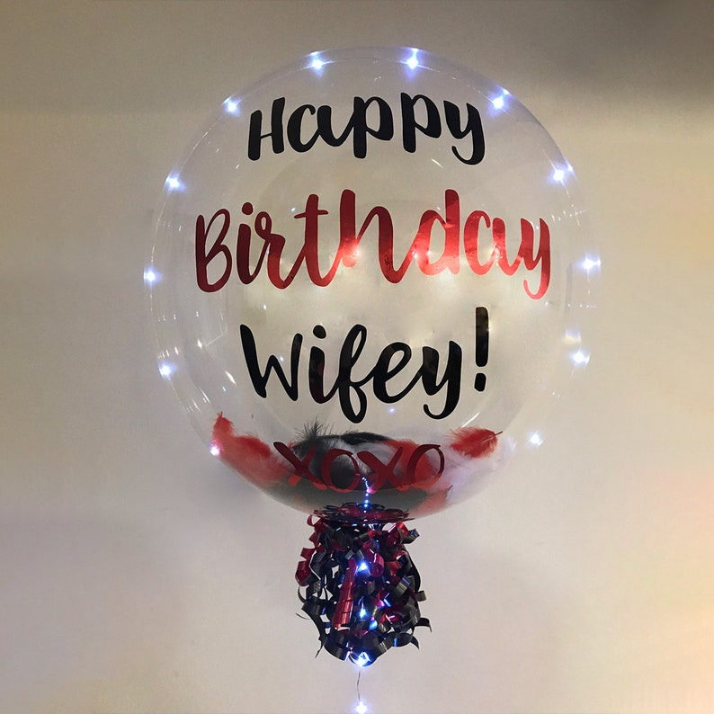 Birthday And Party Decor REUSABLE 24 Inch Transparent Balloon With 118 Inch LED Lights LED Balloon