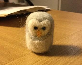 Mini felted owl