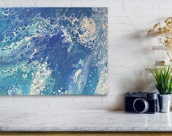 Oceans Blue 11x14 canvas