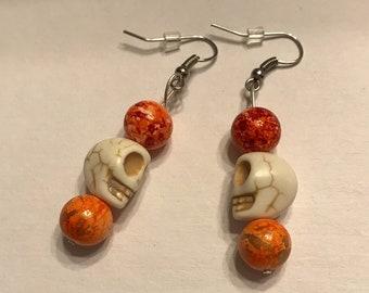 Stone Skull Earrings