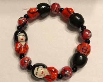 Stretchy Ceramic Beaded Bracelet