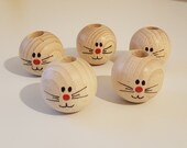 Wooden balls for Easter bunnies