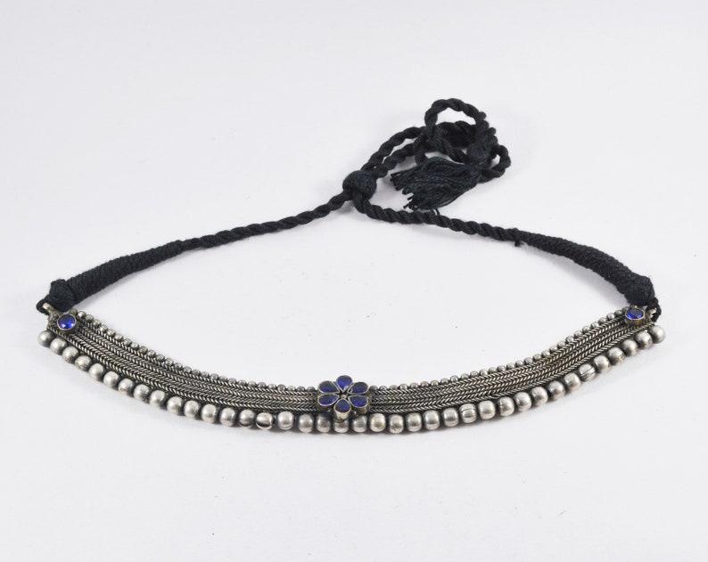 Oxidized German Silver Afghani Bohemian Ethnic Bollywood Jewelry Necklace Set Statement Stone Necklace Set Oxidised Indian Silver Necklace