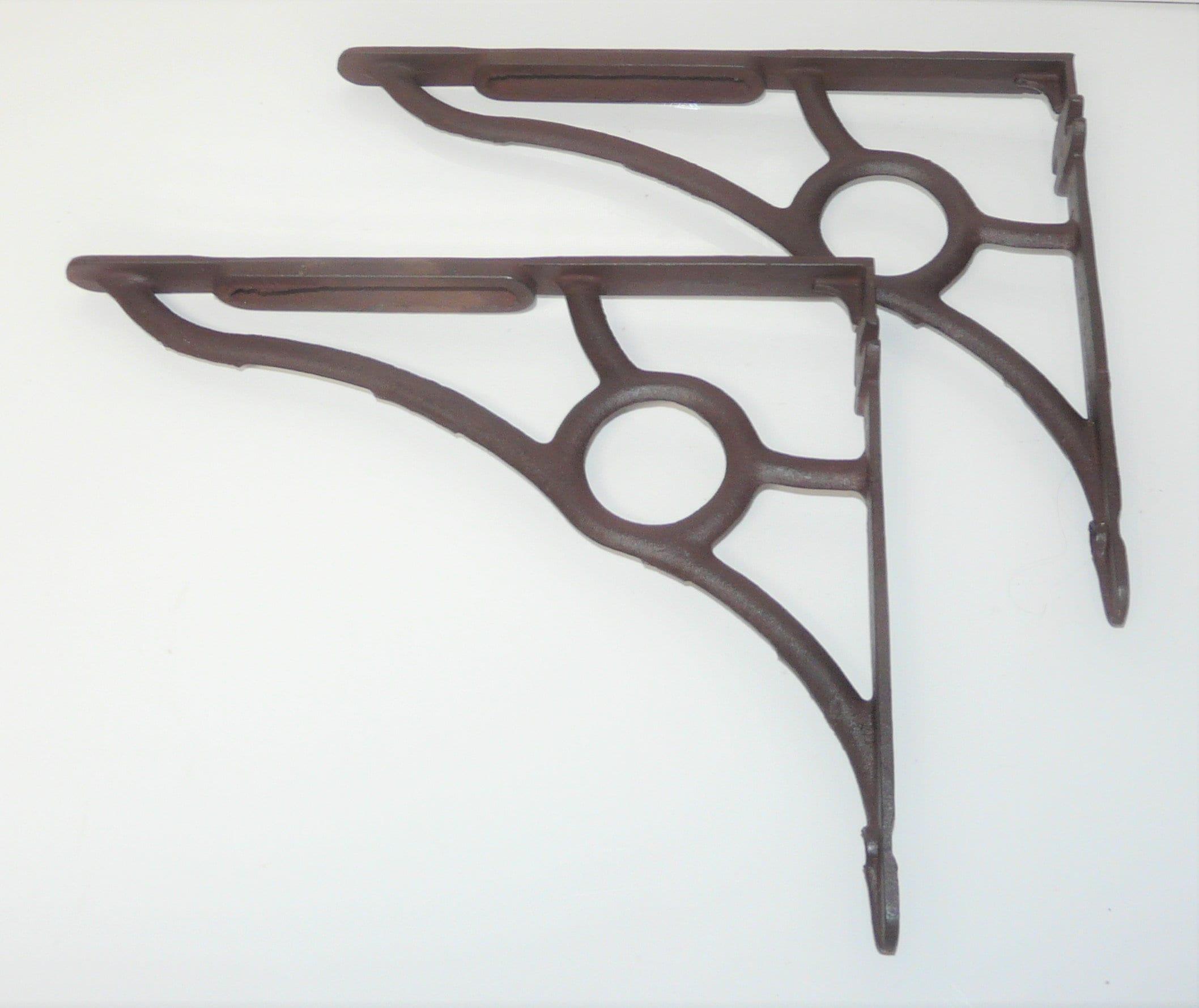 Pair Of 12 Victorian Cast Iron Shelf Brackets