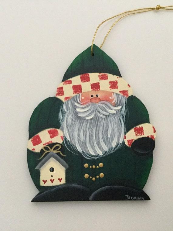 teacher gift Christmas Gift Santa Ornament Christmas Ornament Quilted Christmas Ornament secret santa gift santa Claus Ornament