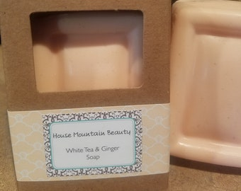 White Tea and Ginger Soap with Goats Milk base