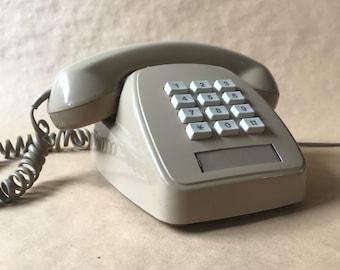 VINTAGE 1980s cinnamon touchfone telephone STC Telecom 807