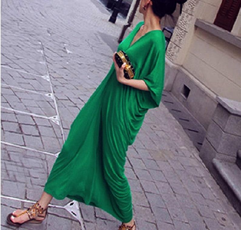 b5cb2ee3620 CUSTOM MADE. Long Caftan Dress Maxi Caftan Ruched Dress