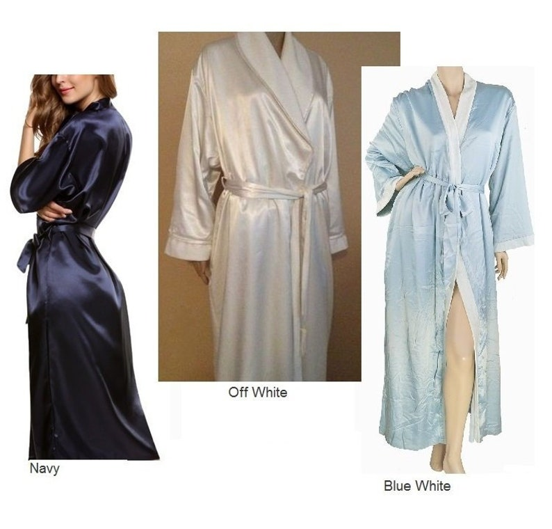 9a55d2025d5 JAYDEN. Satin Flannel Lined Robe. Winter Bridal Robe. Warm