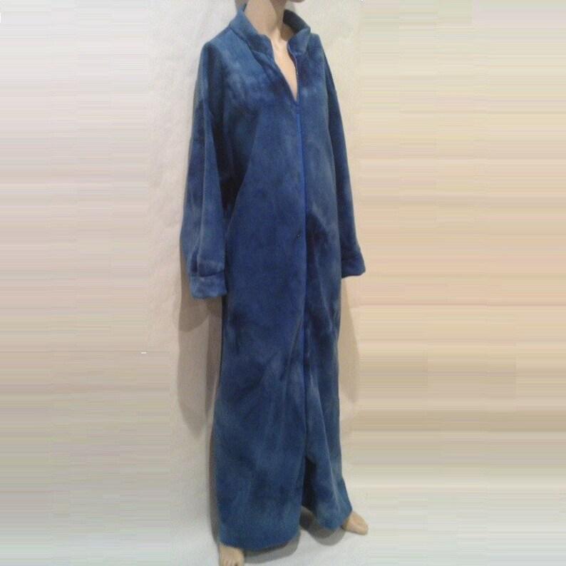 017b27b5a8 MEISHA. Long Zip Front Robe Zipper Front Robes Full Length