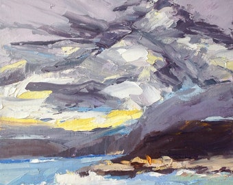 Storm is Coming, 8x10 inches, Oil painting on panel