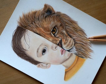 Portrait A4 totem animal