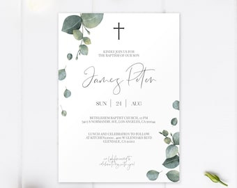 christening order of service template