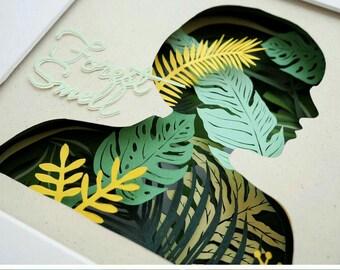 Garden Portrait Papercut