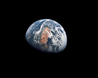Apollo 10 view of the Earth photograph, Space photography, Wonderful gift, Photo print