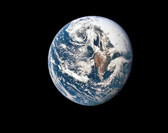 A view of Earth from 36,000 miles, Space photography, Wonderful gift, Photo print