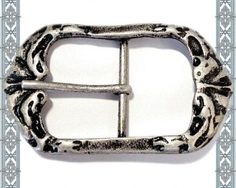 4 Piece SILURIC CLOSED 40 mm Old Silver Buckles Silurer Belt Buckle Belt Clasp / 4 Buckles Antique silver plated Beltbuckle