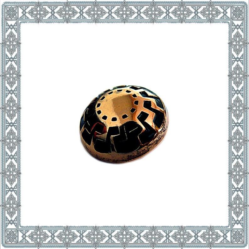 6 Decorative rivets magic sun gilded rivet Black Sun esoteric-occult  Zierniete historic fitting Concho Rivet Antique Accessories