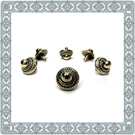 conchos 12 ornamental rivets BABYLONIAN RED STAR silver plated rivet r fitting rivets Rivet antique accessories accessories accessories robes