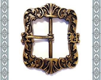 3pcs LANGOBARDEN BUCKLE 33 mm Old Brass Belt Buckle Belt Buckle / 3 Buckles Antique brass plated Buckle Beltbuckl3