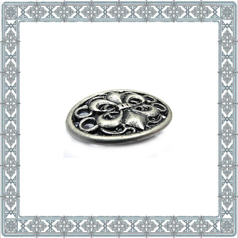 8903265c5e 6 decorative rivets coat of arms fleur de lis old silver rivet Merovingian  lily Concho Decorative fitting Zierniete Fittings Rivet Antique Accessories  ...